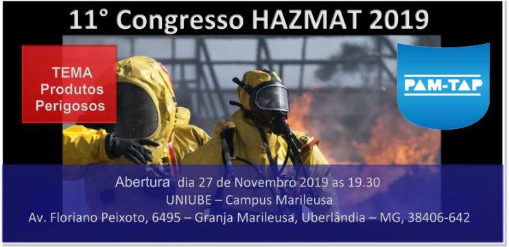 Suporte 11° Congresso HAZMAT 2019 Envio de E-mails